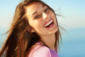 Woman Laughing and Smiling