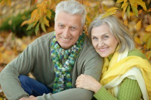 Older Couple Showing Off their Healthy Smiles